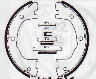 Renault Mascott 120, 160 99- Rear Hand Brake Shoes With Spring Kit