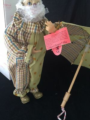 Porcelain Clown Doll by Show Stoppers Inc. Huey w/ umbrella new