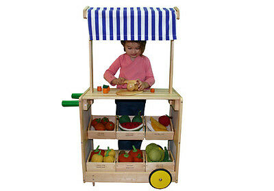 NEW Market Stand & Shop - Sustainable Eco-Friendly Wooden Kids Toys