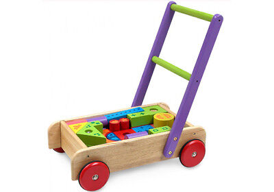NEW I'm Toy Trolley with Blocks - Sustainable Eco-Friendly Wooden Kids Toys