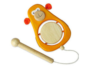 NEW Monkey Drum Musical Toy - Sustainable Eco-Friendly Wooden Kids Toys