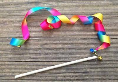 NEW Rainbow Twirling Wand - Sustainable Eco-Friendly Wooden Kids Toys