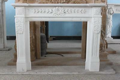 Classic, Colonial or Roman Style Marble Fireplace Mantel, 10-06997