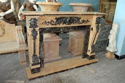 Two Tone Italian Style Marble Fireplace Mantel
