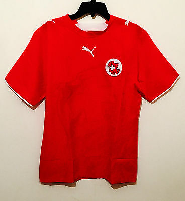 Puma Men's Switzerland 2006/07 Home Football Shirt Jersey Red New All Sizes