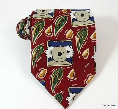 Banjo Blue Koala Bear Tie Richard Galbraith Art Necktie Made in Australia