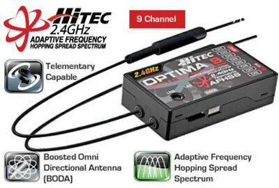 Optima 9 - 9 Channel 2.4GHz Receiver Hitec HITEC