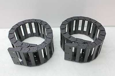 "2 New Igus 10.6.075 Wireway Cable Carrier Cable Chain 3.70"" x 1"" Outer 24"""