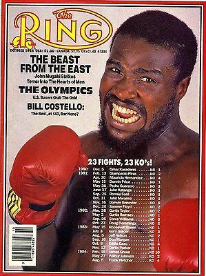 John The Beast Mugabi Boxing Magazine Picture
