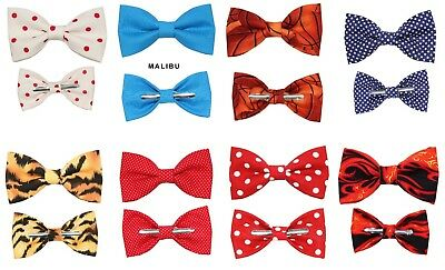 Novelty Bow Ties - Choose 1 New Clip-On Cotton Bow Tie