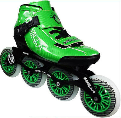 Vanilla Carbon Inline Speed Skates Green US Mens Size 10