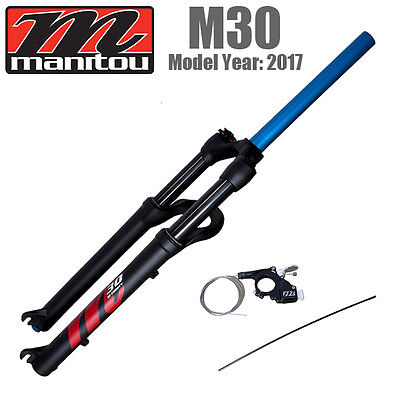 "2017 Manitou M30 MTB 26"" 27.5"" 29"" ABS+ Suspension Air Fork Manual Remote"