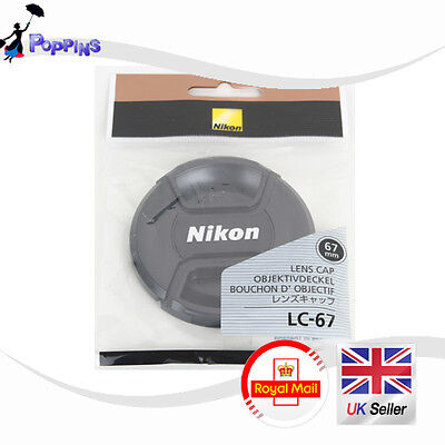 NEW Genuine Nikon LC-67 Snap-on Front Lens Cap 67mm