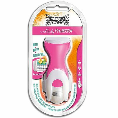 Wilkinson Sword Lady Protector Twin Blade Razor With Wall Suction Hanger