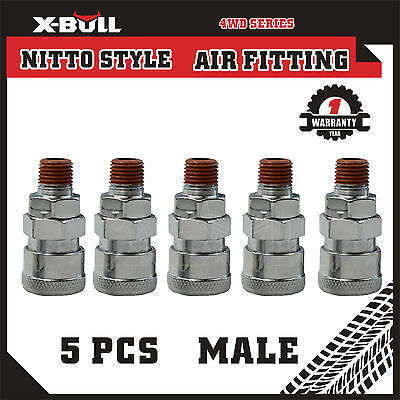 X-BULL 5Pcs Socket Male Nitto Style Air Fitting Coupler Quick Coupling 20SM