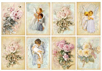Angels & Rose Bouquets  ~ Card Making Toppers / Scrapbooking / Crafting