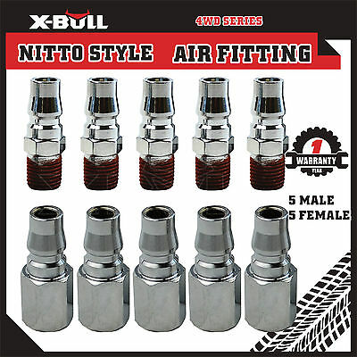 5 Male 5 Female Air Fitting Nitto Style Coupler Fittings Air Compressor Plug