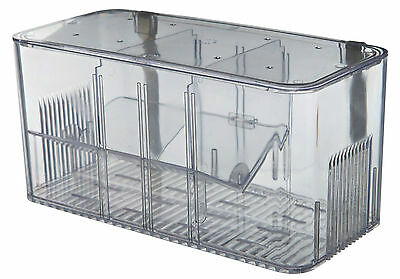 Aquarium Fish Hatchery 5 Chamber System Breeding Trap with Lid
