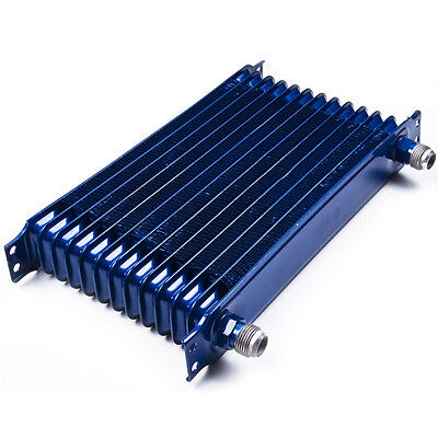 Universal Race Sport Drift Drag Turbo Custom An10 13 Row 50Mm Alloy Oil Cooler