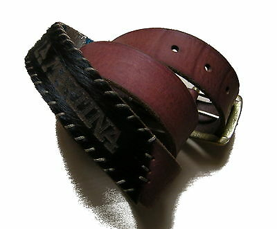 Cintura Polo La Martina Pelle Belt Uomo Man Leather Hand Made 100% Cow New