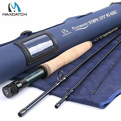 3WT Nymph Fly Rod 10FT 4Sections Fast Action Fly Fishing Rod & Cordura tube
