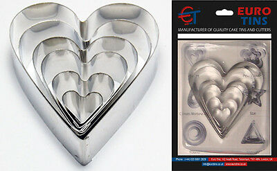 "Heart Shape Leaf Steel Cookie Cake Cutter 1"" deep set of 6 – Decorating Tool"