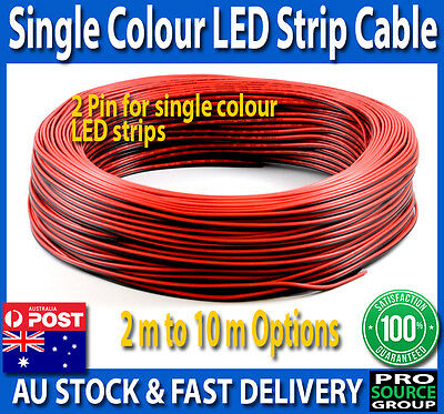 LED strip 2-Pin extension cable wire for single colour 2, 4, 6,  8, 10 Metres
