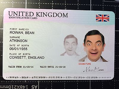 Novelty plastic ID fake prank / prop card - Personalized with your information