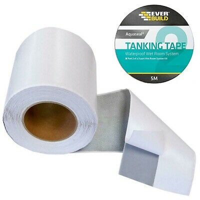 Everbuild Aquaseal Wet Room Kit Tanking waterproof tiling Corner tape 5 meters