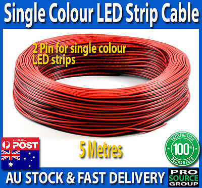 5 metre 2-Pin flexible extension cable wire for single colour LED strip