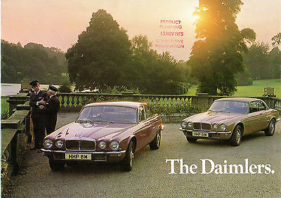 Daimler Sovereign & Double Six Series 2 1973-74 UK Market Foldout Brochure XJ