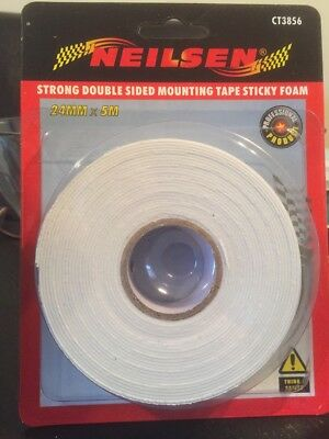 Double Sided Mounting Tape – 24mm x 5mm Sticky Foam