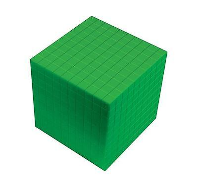 MAB Base Ten Blocks Componets Cube Green 1p Maths Teacher Resource Learning