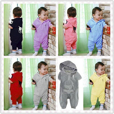 Newborn Baby Girls Kids Polo Rompers Outfits Hot Autumn Clothing Boys Playsuits