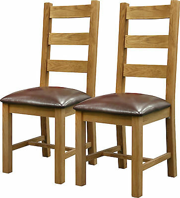 Canterbury Premium Dining Chairs Solid Oak Furniture Twin Pack