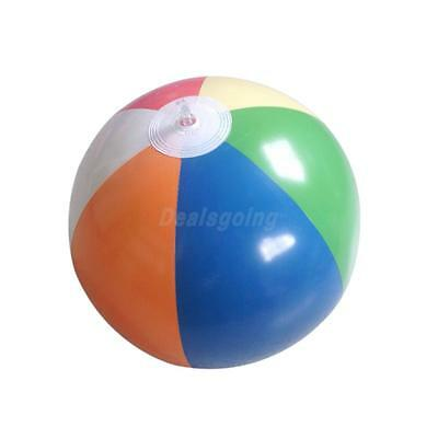 "12"" Inflatable Colorful Pool Party Beach Ball-6 Pieces of Colors Mixed"