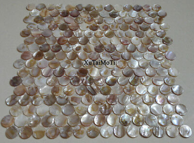 11pcs round shell mosaic tiles kitchen decoration bathroom tile mother of pearl