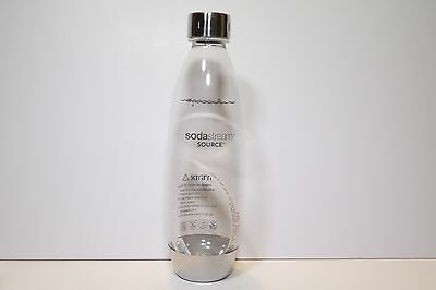 BPA Free Sodastream Carbonating Bottles 1 Litre STAINLESS STEEL Cap and saucer
