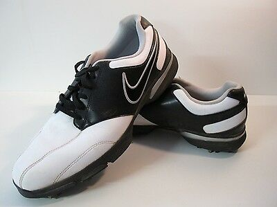 Mens Nike Golf White Black Used Shoes Uk 10 EUR 45