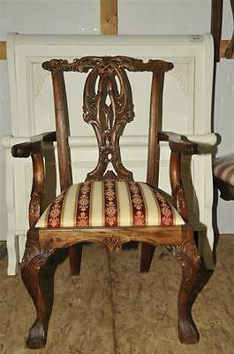 Traditional Chippendale Mahogany Chair Set of 8,Includes 2 Arm Chairs& Six Sides