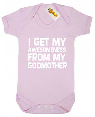 Awesomeness From Godmother Bodysuit, Christening gifts for godson goddaughter