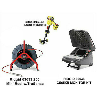 Ridgid 200' MINI Reel w/TS (63633) Seektech SR-24 Locator (44473) CS65X (55978)