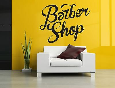 Wall Room Decor Art Vinyl Sticker Mural Decal Barber Shop Logo Sign Salon SA006