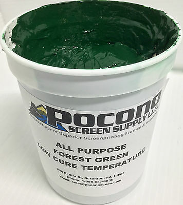ALL PURPOSE FOREST Green Low Cure Temperature Plastisol Ink