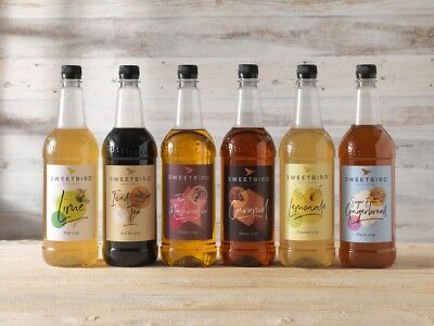 SWEETBIRD SYRUP 1ltr - inc. Pumpkin Spice flavour for Lattes, Hot Chocolates.