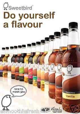 **CLEARANCE** SWEETBIRD SYRUP 1ltr - For Coffees, Hot Chocolates & Frappes