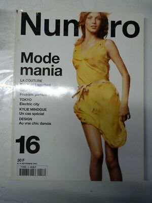 Magazine mode fashion NUMERO #16 septembre 2000 Mode mania
