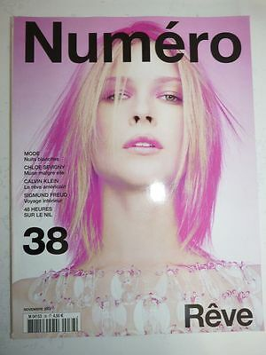 Magazine mode fashion NUMERO #38 novembre 2002 rêve