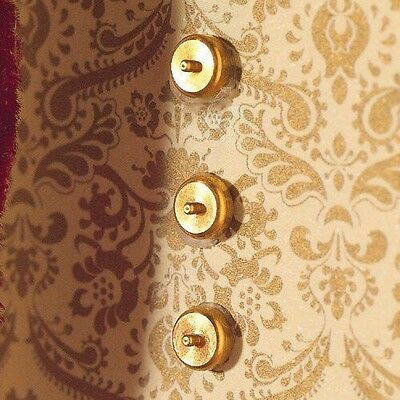 Dolls House Emporium Dolls House Accessory Brass Light Switches 10 pieces 3530