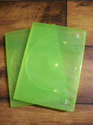 Microsoft XBOX 360 -- Brand New Green Replacement Game Case x2